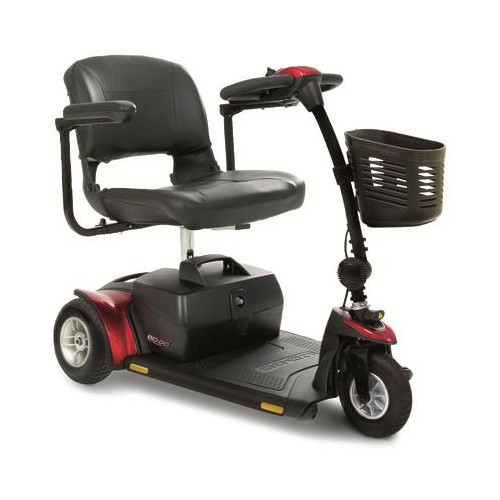 Scooter elèctric model Go-Go Elite Traveller Plus de 3 rodes (marca Pride Mobility, USA).