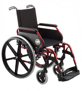 Standard foldable wheelchairs for rent or hire in Barcelona.